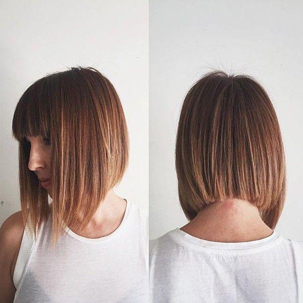 Blunt bangs and bob by @domdomhair #womenshair #hair #cut #style #cool #bangs #bob #domdomhair #chrismcmillansalon @soloartists