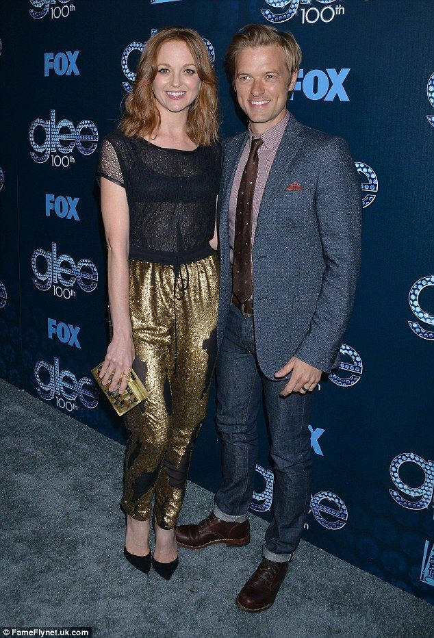 Parents to be: Glee star Jayma Mays and her actor husband Adam Campbell have announced the...