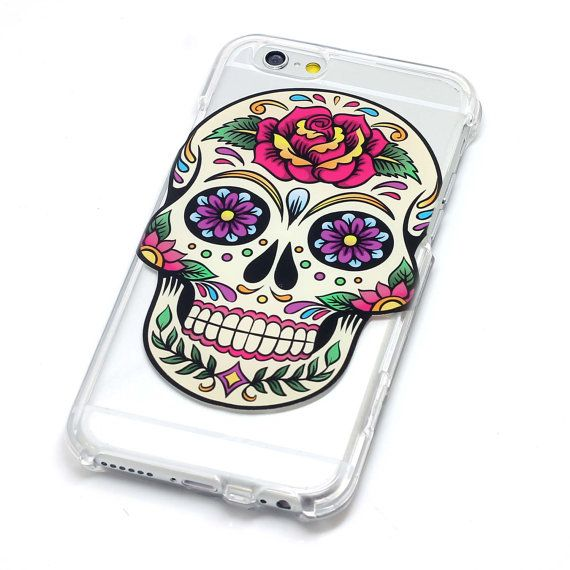 Sugar skull with rose dia de los muertos henna style phone case iphone 6 plus galaxy note 4