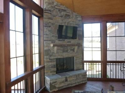 Screened Porches Screened Porch With An Outdoor Fireplace Screened Porches Photo Porch
