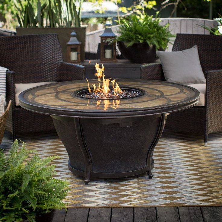 Agio Cirrus 52 in. Round Fire Pit Table with FREE Cover - AGIO011