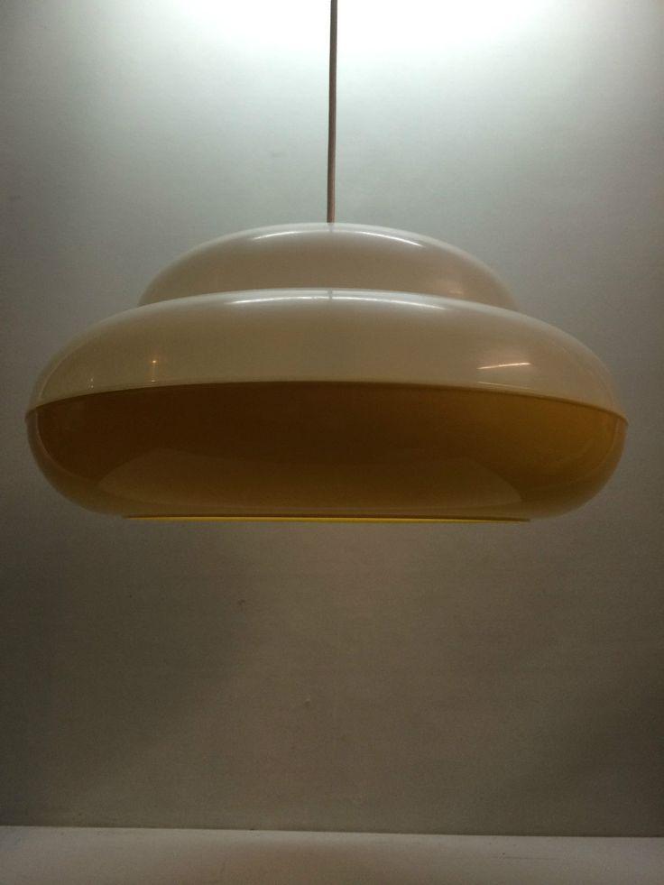 Vintage Ufo Lampe Colani Lampe Gelb Weiss 70er Popart