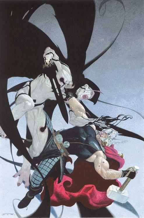 Thor vs Gorr by Esad Ribic