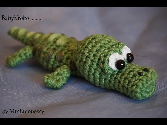 DIY Häkeln Baby Krokodil so süß