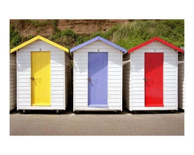 cute beach huts