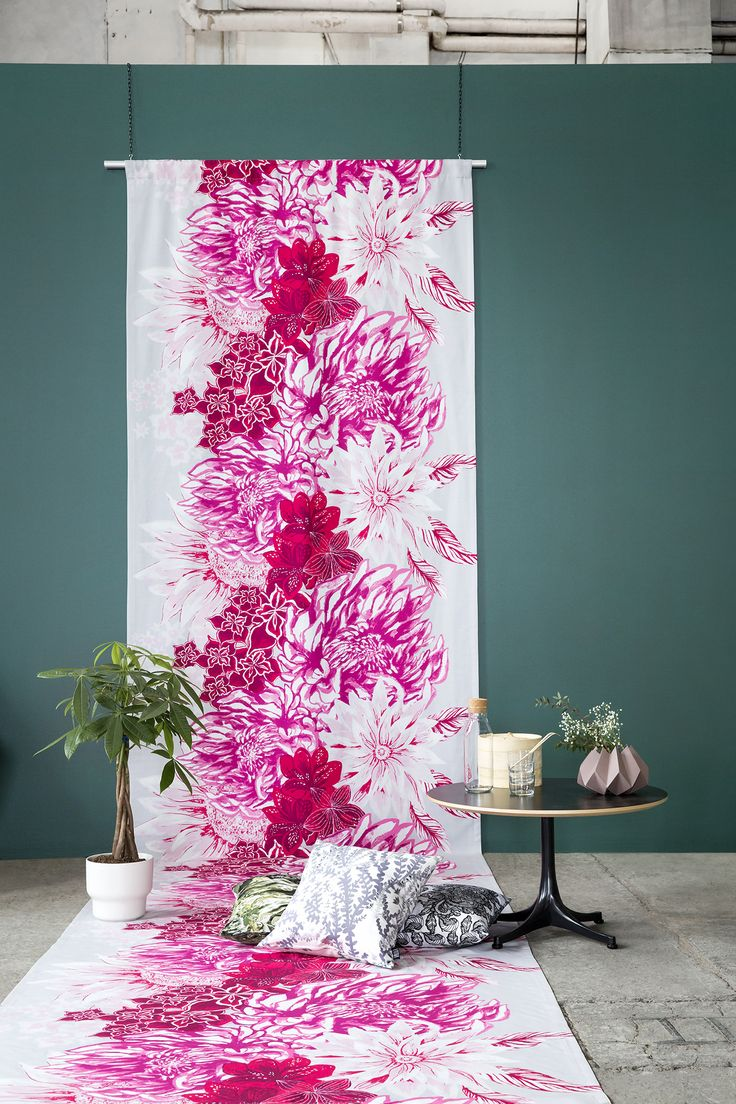 Ikebana curtain by Matleena Issakainen