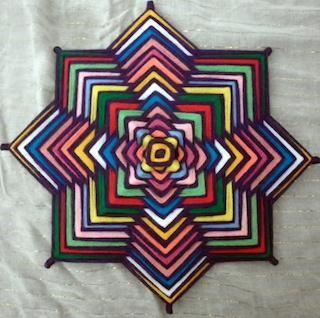 Resultado de imagen de mandalas ojos de dios lana hilo