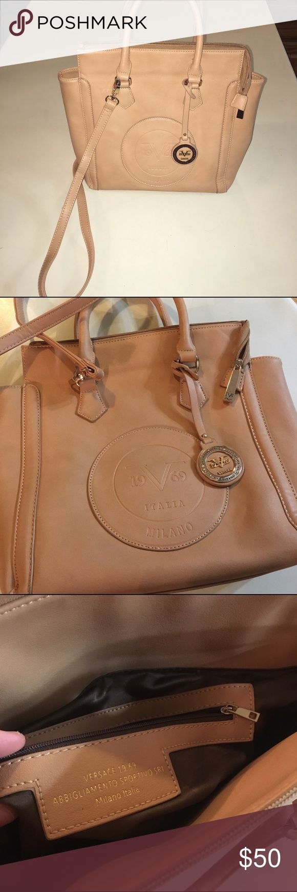 Versace 19.69 Abbigliamento Sportivo SRL crossbody Excellent condition!! Crossbody bag, but you can take the straps off! Super cute and a versatile color to go all year round! :) feel free to make an offer! Versace Bags Crossbody Bags