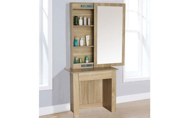 Vanity Dressing Table With Large Mirror Modern Cabinet Jewelry Drawer Furniture
