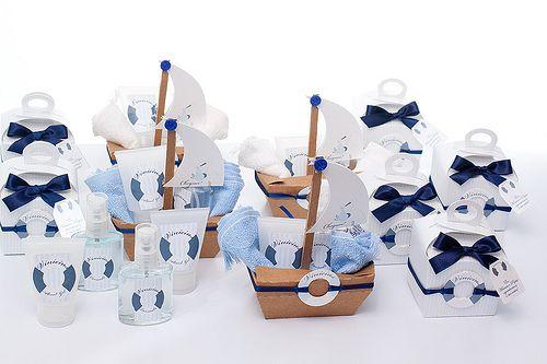 Kit Lembrancinhas Maternidade Navy