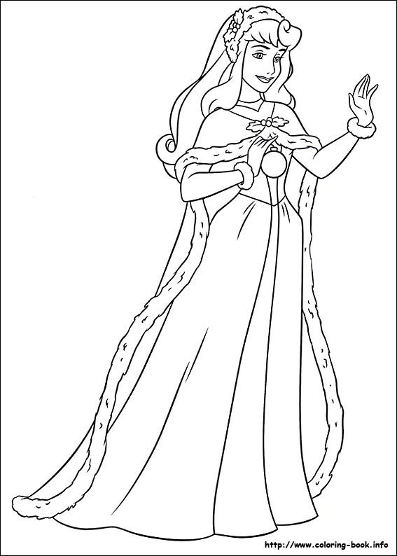 Princess Christmas 10 Coloring Pages Printable And Book To Print For Free Find More Online Kids Adults Of
