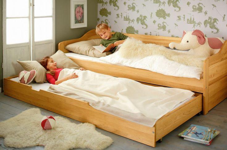Artikelbild: Komplett-Set Nico Schlafsofa mit Matratzen-Bettkasten und 2 Lattenrosten 90x200 cm Erle