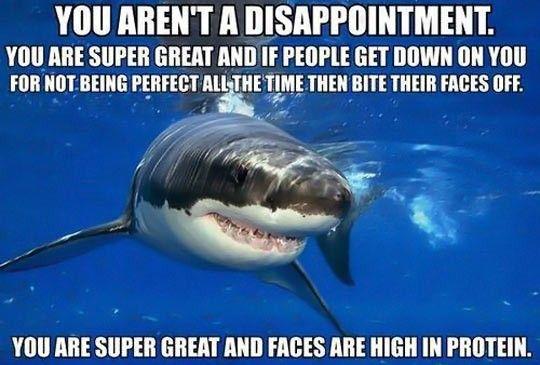 Positive self-esteem shark