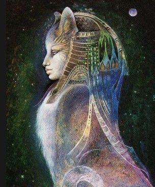 Bast o Bastet, diosa gata  egipcia