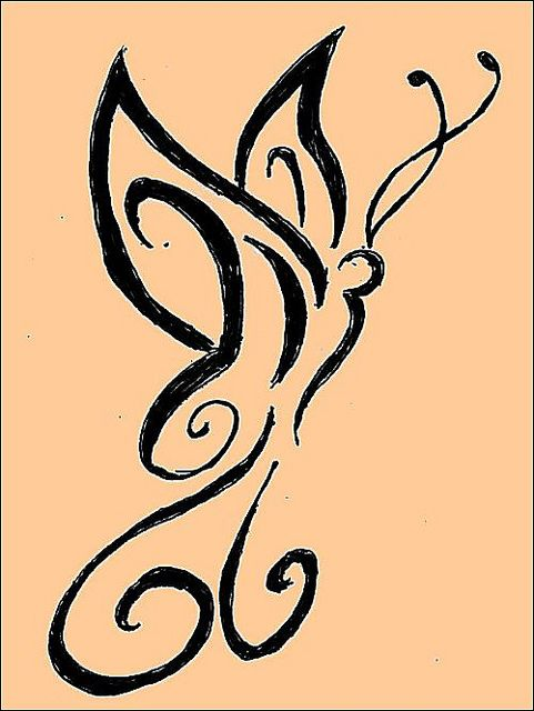 henna tattoo butterfly design by april-mo, via Flickr