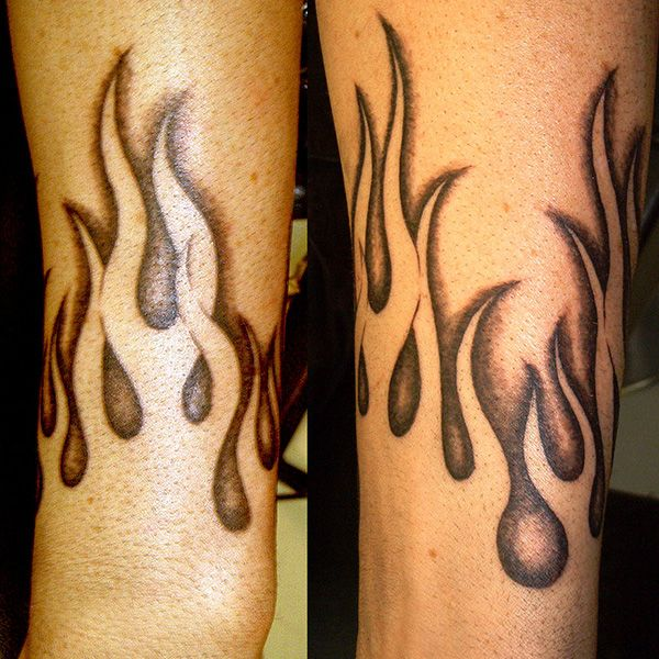 Flame Tattoos Designs Ideas And Meaning: Negative Flames 32 Warm Flame Tattoos