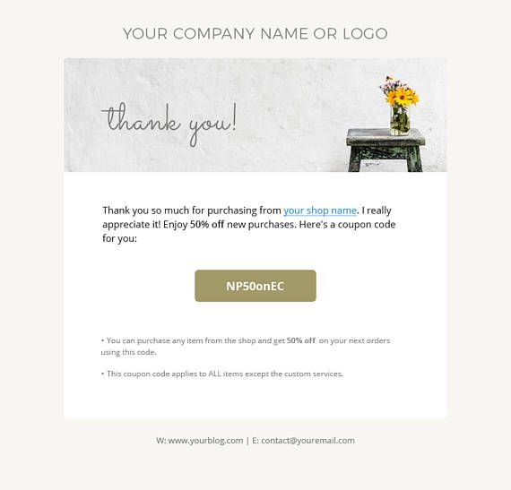 Thank You Email Template Email Newsletter Template Newsletter