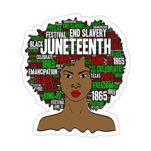 Juneteenth Natural Hair Afro Art For Black Women Sticker By Blackartmatters In 2021 Black Girl Magic Art Black Love Art Afro Art