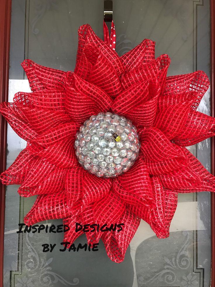 136 Best Flowers Deco Mesh Wreaths Images On Pinterest
