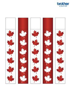 Printable Canada Day Decorations & Supplies | Free Templates – Brother