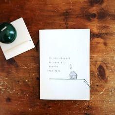 Quaderno illustrato e rilegato a mano *la casa dei doganieri*