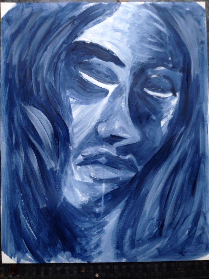 blue acryl