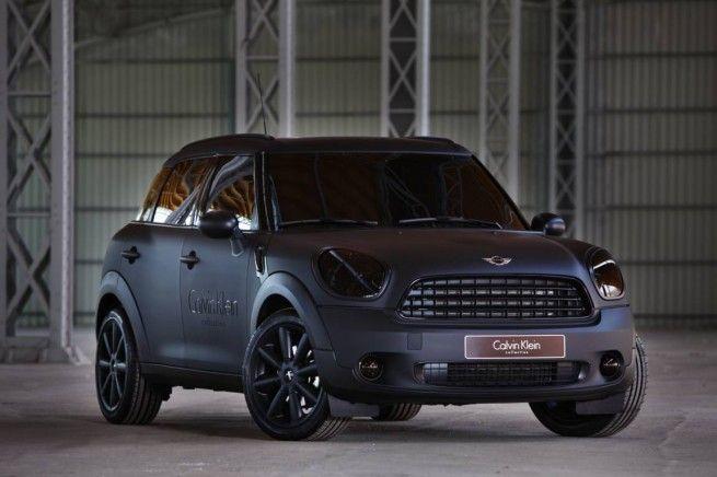 Matte Black Countryman Dream mini cooper   custom car | car wrap