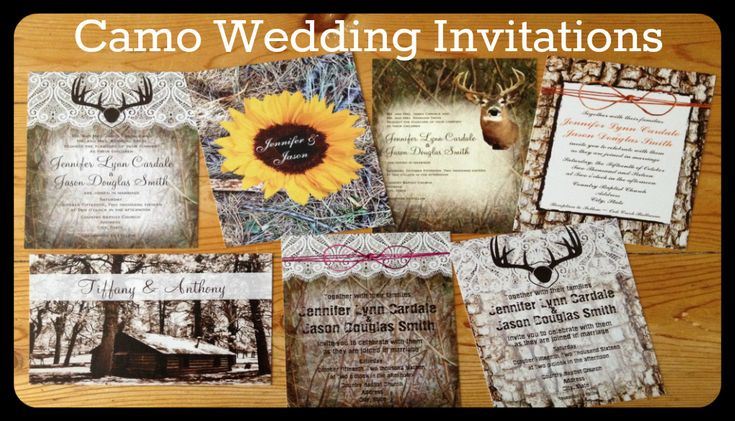 Camo Wedding Invitations For A Camouflage Or Hunting Theme