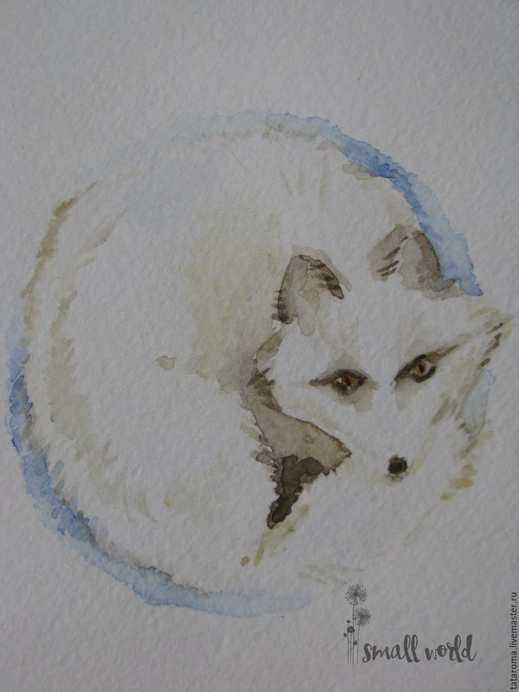 """Купить Авторская открытка """"Лиса"""" - белый, открытка, Открытка ручной работы, поздравление, Новый Год"""