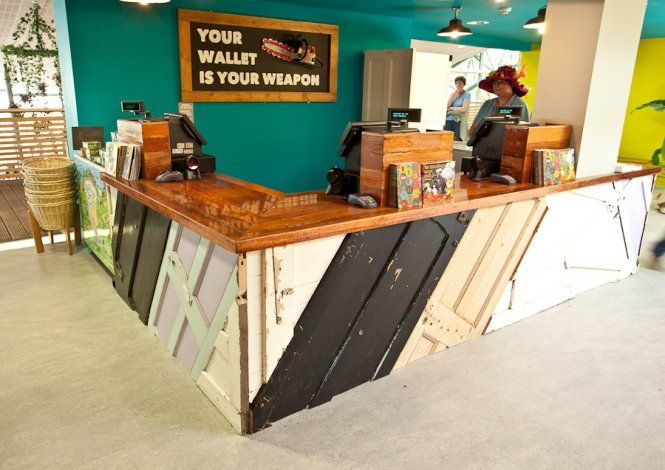 Shop Counter - made from old doors