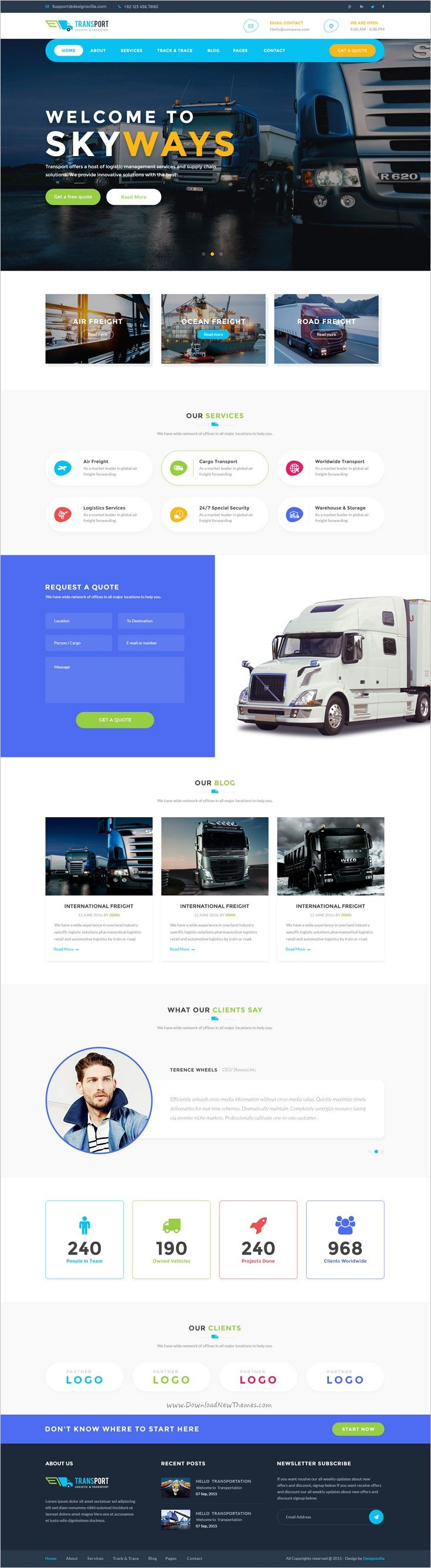 Transport is #PSD template created for #webdev logistics, trucking, #transportation #companies and small freight business websites download now➩ https://themeforest.net/item/transport-logistics-transportation-business-psd-template/18996996?ref=Datasata