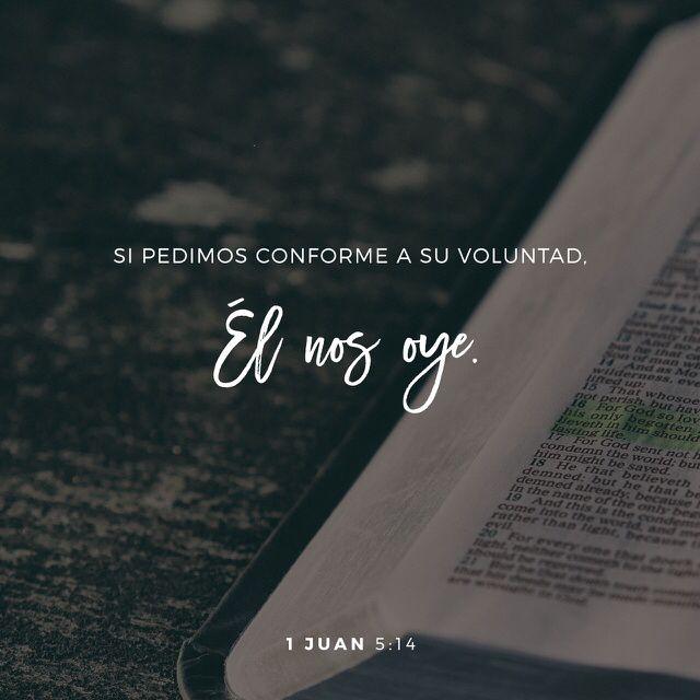 Es maravilloso saber que Dios me oye!!!