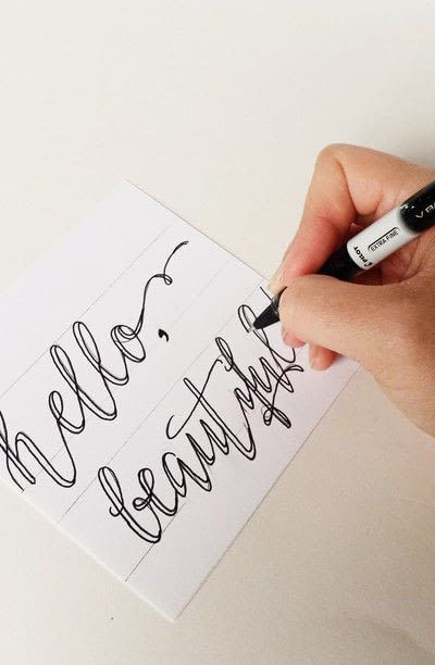 How to draw a piece of calligraphy. How To Create Fake Calligraphy - Step 3