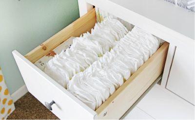 como organizar o guarda roupa do bebe