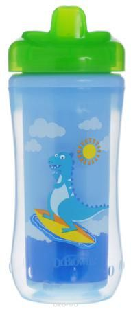 """Dr.Brown's Поильник-термочашка от 12 месяцев цвет голубой салатовый 300 мл  — 625р.  Поильник-термочашка """"Dr.Brown's"""", выполненный из безопасного материала (не содержит бисфенол А), специально разработан для малышей от 1 года. Корпус поильника с изолирующими стенками позволяет напиткам долго сохранять свою температуру и свежесть. Крышка термо-поильника плотно и герметично закручивается, а благодаря цельному клапану, исключает проливание жидкости, даже если малыш перевернет поильник…"""