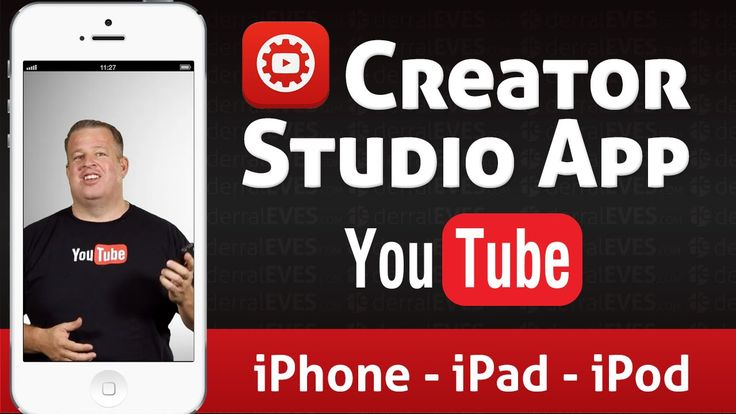 YouTube Creator Studio App for iOS - iPod iPad iPhone