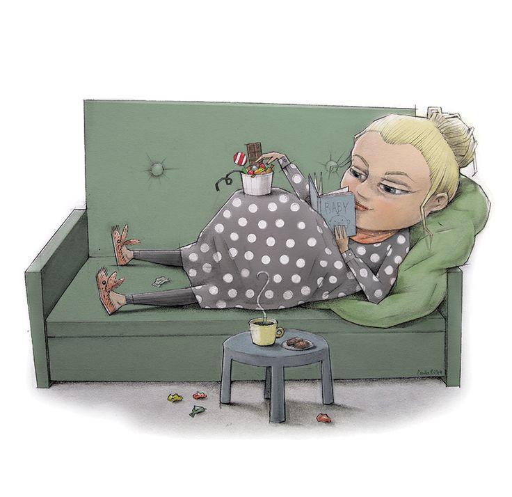 Comfort zone. by Camilla Billett  #pregnant pregnant