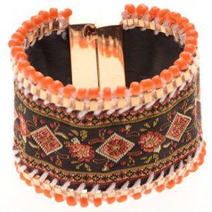 dikke armband oranje Ibiza style bracelet sieraden jewelry orange