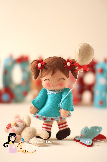 Sweet little felt doll