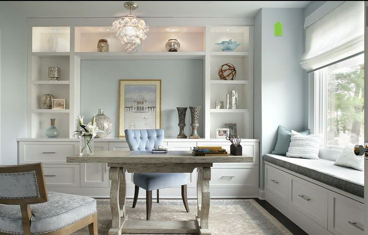 Gorgeous and serene home office:
