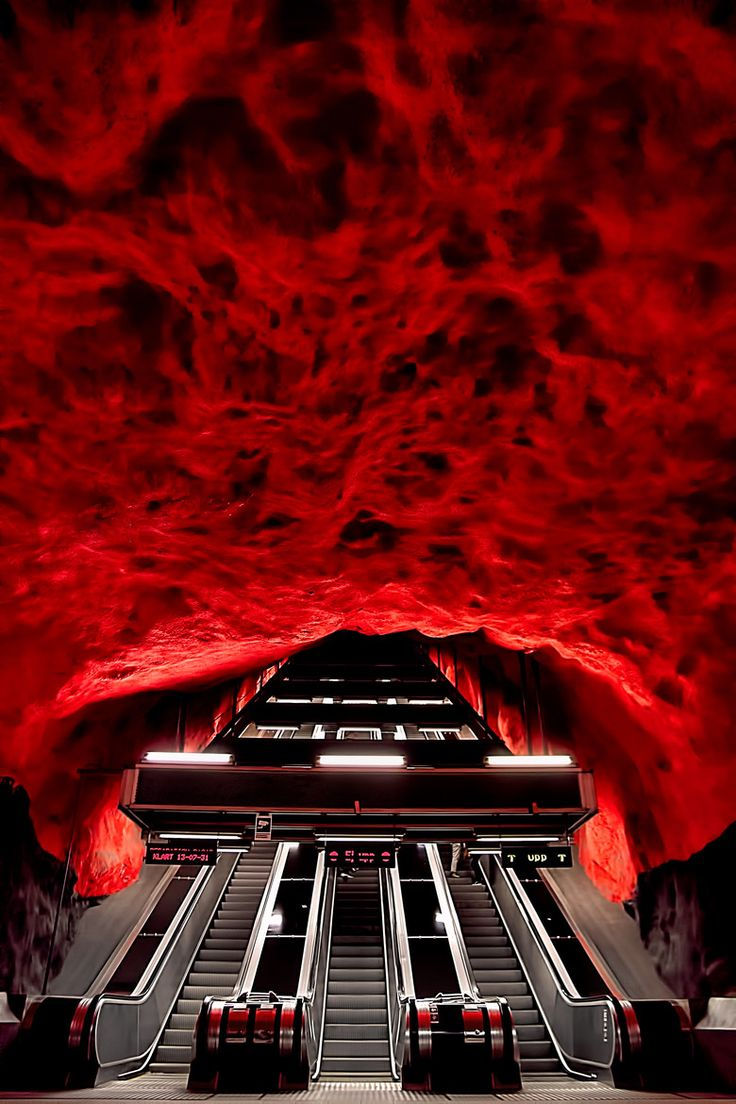 Hell's Mouth - Solna Metro Station, Stockholm, Sweden