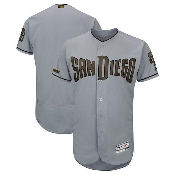 3ab2e503a4e Men s San Diego Padres Majestic Gray 2018 Memorial Day Authentic Collection  Flex Base Team Jersey