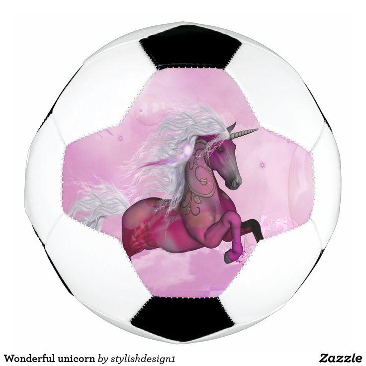 Wonderful unicorn soccer ball  | #S6GTP ~ Created by one of my friends   Zazzle ~