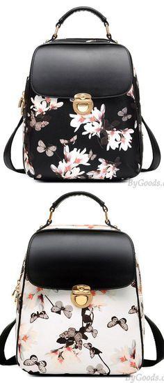 Fresh Girl Butterfly Flower School Bag Casual Backpack for big sale! #flower #school #fresh #bag #casual #butterfly #backpack
