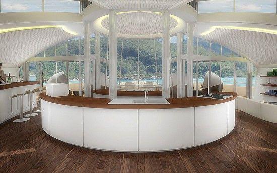 Solar Floating Island, un complexe hôtelier écologique et avant-gardiste http://journalduluxe.fr/solar-floating-island/