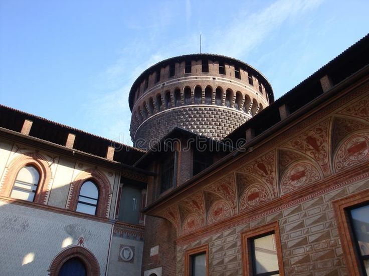 Photo about Detail from the Sforza Castle - July 2017 - Milan - Italy. Image of detail, detials, castel - 111277832