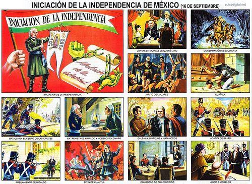 Lámina escolar - Iniciación de la Independencia de México -16 de septiembre