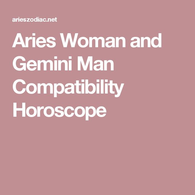 Aries Woman and Gemini Man Love Compatibility