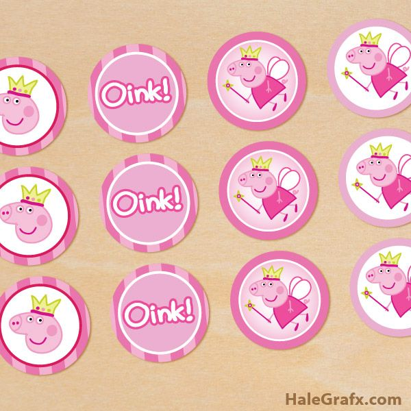 peppa pig cupcake toppers FREE Printable Lilah 4th b-day!