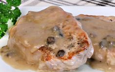 Learn how to make delicious oven baked pork chops. This easy recipe uses only 4 ingredients to make tender and juicy boneless pork chops.